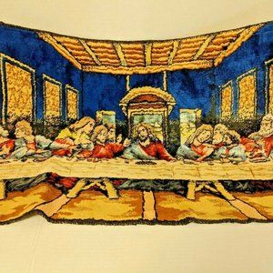 The Last Supper Vintage Tapestry Mid Century